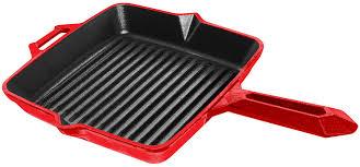 Чугунная сковорода-<b>гриль</b> с антипригарным керамическим ...