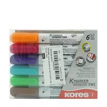 Набор <b>маркеров</b> для досок <b>Kores</b> 6 шт купить в магазине METRO ...