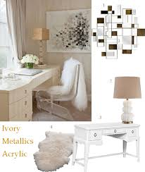 glamorous home office decor with mirrors and metallics chic office decor