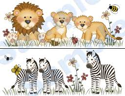 jungle zoo animals wall border decals bee nursery baby kids room stickers decor baby nursery cool bee animal