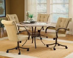 dining table with wheels: removing dining room chairs with casters to make stable http www