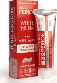 <b>Perioe Зубная паста отбеливающая</b> white now cooling mint ...