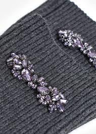 Crystal <b>appliqué gloves</b> - Woman | Mango Thailand