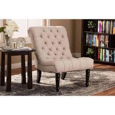 caelie linen modern lounge chair in beige baxton studio lounge chair