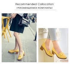 <b>RizaBina Women</b> Thick High Heels Shoes <b>Women</b> Slip On Bowknot ...