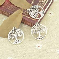 Online Shop <b>10pcs</b> alloy Tibetan <b>Silver Plated</b> Tree of life Charms ...