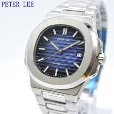 PETER LEE <b>Mens Watches</b> Top Brand Luxury <b>Full Steel</b> Automatic ...