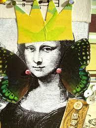 <b>Mona Lisa</b>-Handmade Art <b>Collage</b>-4x4-Mona Was A Mom-Buy 2 ...