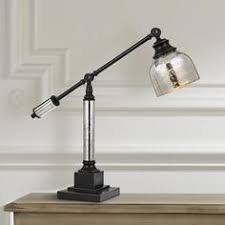 add task lighting to any space with this metal desk lamp with a stunning antiqued glass add task lighting