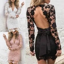 New <b>Lace Crochet Backless V Neck</b> Bodycon Dress in 2019 ...