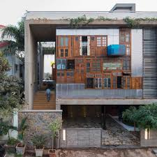 architecture and design in mumbai dezeen reclaimed windows and doors form facades of collage house by s ps architects