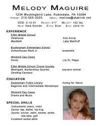 resume example   dancer resume for kids children acting resume    quote of  child acting resumes