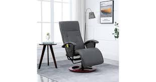 Massage Chair Grey Faux Leather | Massage ... - Dick Smith