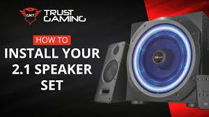 How To Install Your <b>2.1 Trust</b> Gaming Speaker Set - YouTube