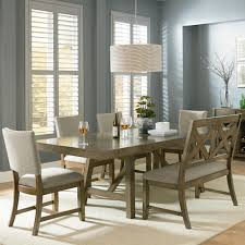 Modern Round Dining Room Tables Metropolitan 6 Piece Dining Set With Bench Espresso Picturesque