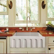 randolph morris 24 x 18 fluted fireclay apron farmhouse sink apron kitchen sink kitchen sinks alcove