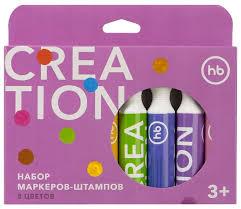 <b>Happy Baby Набор маркеров</b>-<b>штампов</b> Creation (36027), 8 шт ...