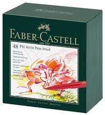 <b>Faber</b>-<b>Castell Ручка капиллярная</b> Pitt Artist <b>Pen</b> 48 шт — купить в ...