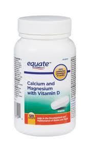 Equate <b>Calcium Magnesium with Vitamin</b> D, 120 Caplets   Walmart ...