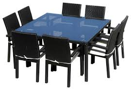 outdoor dining table chair set modern outdoor  piece wicker all weather table and chair set contemporary out