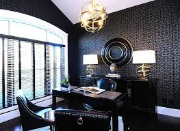 exquisite modern home office that is more about black than white design atmosphere interior black contemporary home office