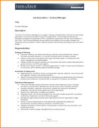contract manager job description template doc by infotech contract manager job description
