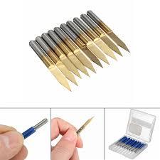 10Pcs 30Degree <b>30mm</b> Titanium Milling Cutters Coated <b>Carbide</b> ...