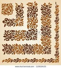 Vector set of <b>floral</b> elements. <b>Seamless</b> pattern for frames and ...