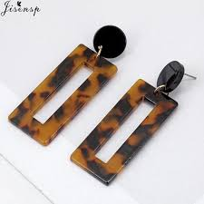 Jisensp Drop <b>Earrings Bohemian</b> Retro Leopard Dangle <b>Earrings</b> ...
