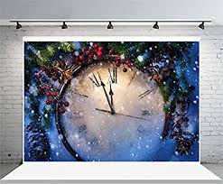 Laeacco 7x5FT Vinyl Backdrop Christmas Clock ... - Amazon.com