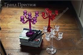 <b>Подсвечник 5</b>-<b>ти рожковый</b> хрустальный 30 см в Москве   купить ...