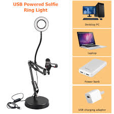 <b>2 In 1</b> LED <b>Fill Light Phone</b> Bracket For Live Streaming Holder 360 ...