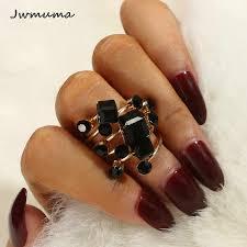 New Fashion <b>Zircon</b> Mosaic Women's <b>Rings</b> Rose Gold <b>Snowflake</b> ...