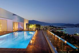 balcony modern contemporary villa house design with private pool excerpt lighting ideas fiberglass pool designs amazing indoor pool lighting