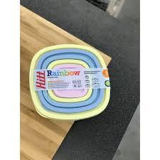 <b>Набор контейнеров для</b> хранения продуктов Hitt Rainbow 5 шт. в ...