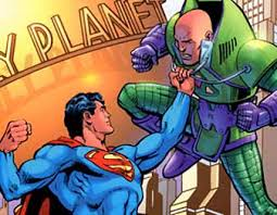 Image result for picture of superman vs lex luthor