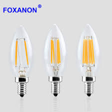 Foxanon Dimmable <b>Led Filament</b> light E14 2W 4W 6W <b>Bulb</b> Lamp ...
