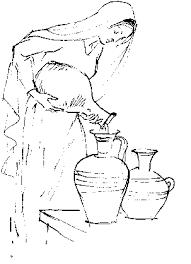 Resultado de imagem para desenhos de moça com pote de água