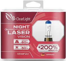 <b>Лампа автомобильная</b> галогенная <b>Clearlight H7</b> 12V-55W Night ...