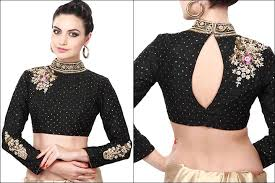 Full sleeve Black Blouse Designs