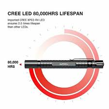 <b>LED Pen</b> Light Zoomable Flashlight Water Resistant Super Bright ...