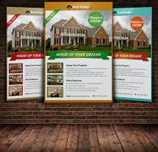 real estate flyer template flyer templates on creative market real estate flyer template