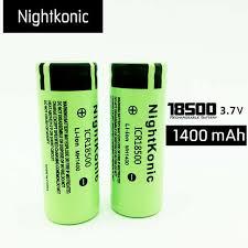 Online Shop <b>Original Nightkonic</b> ICR 18500 Battery 3.7V 1400mAh li ...