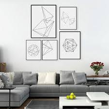 <b>Modern Nordic Minimalist</b> Black White Geometric Shape A4 Large ...