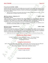 preschool teacher resume sample   page