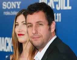 "Adam Sandler returns to big screens with ""Blended"" in May 2014 - adam-sandler-jackie-sandler-premiere-columbia-icaocst-gdcx-and-wife-571476810"