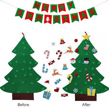 Artificial Christmas Trees <b>Kids DIY Felt Christmas</b> Tree with ...