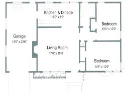 Two Bedroom House Plans With Attached Garage Arts - Two bedroomed house plans