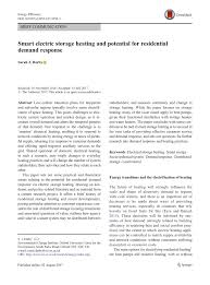 (PDF) <b>Smart electric</b> storage <b>heating</b> and potential for residential ...