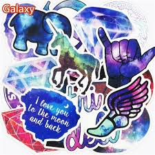 50pcs galaxy stickers cartoon mixed car star for laptop refrigerator bicycle waterproof b1411